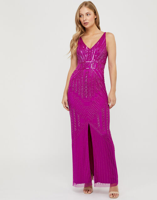 Eva Embellished Maxi Dress, Pink (PINK), large