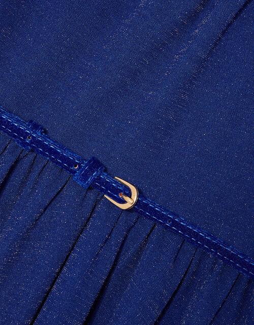 Shimmer Hanky Hem Dress, Blue (BLUE), large