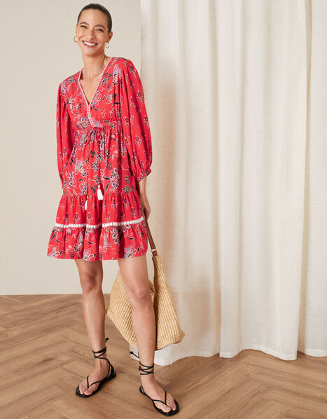Anissia Floral Dress Red, Red (RED), large