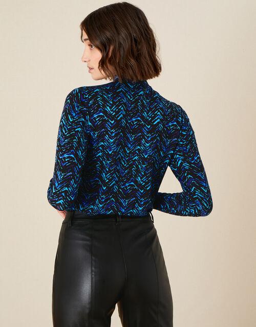 Cora Printed Jersey Top, Teal (TEAL), large