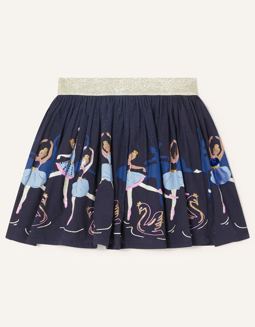 Embroidered Ballerina Skirt, Blue (NAVY), large