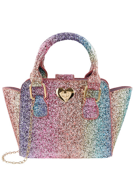 Rainbow Glitter Tote Bag, , large