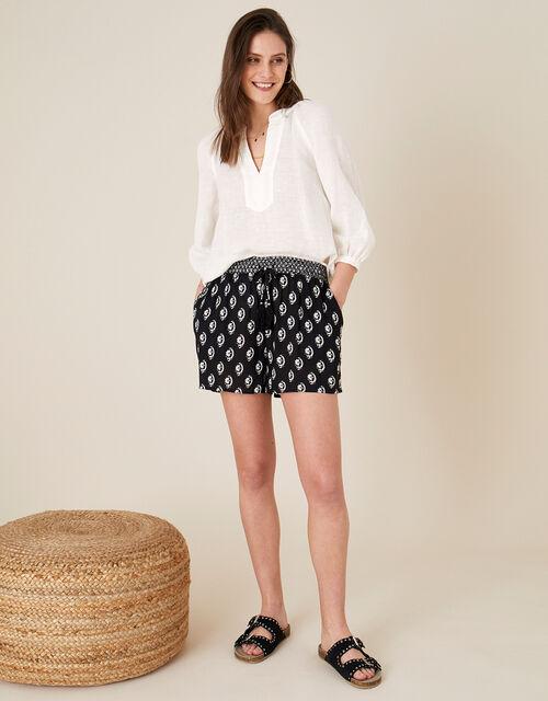 Rori Shorts in LENZING™ ECOVERO™, Black (BLACK), large