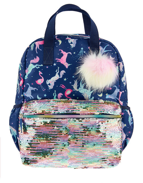 Electric Unicorn Sequin Backpack, , large