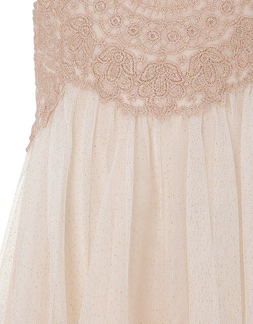 Estella Lace and Sparkle Occasion Dress, Pink (PINK), large
