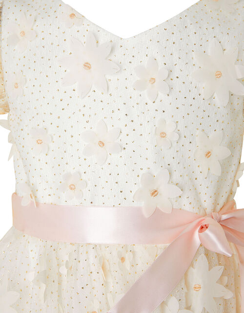 Sweet Petal 3D Hanky Hem Dress , Ivory (IVORY), large