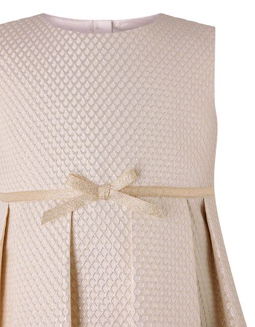 Baby Tilly Metallic Jacquard Dress, Gold (GOLD), large