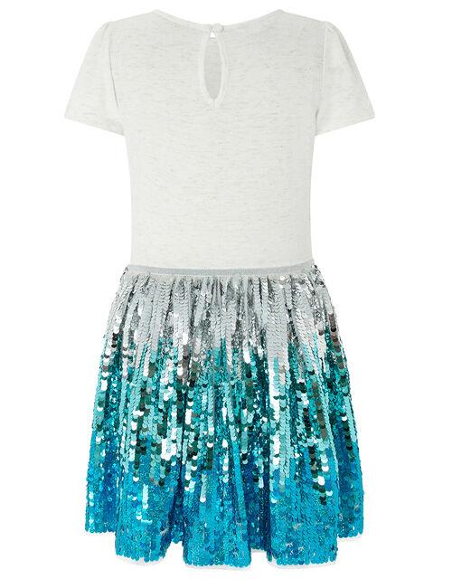 Freya Disco Dress With Sequin Skirt, Ivory (IVORY), large