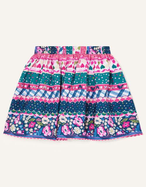 Multi Print Skirt, Teal (TEAL), large