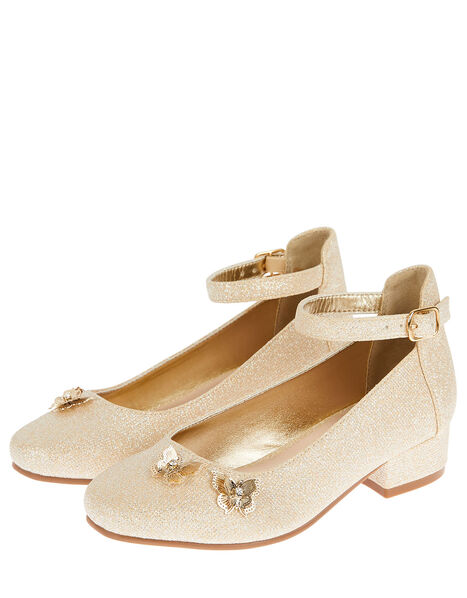 Eugena Butterfly Jive Heeled Shoes Gold, Gold (GOLD), large
