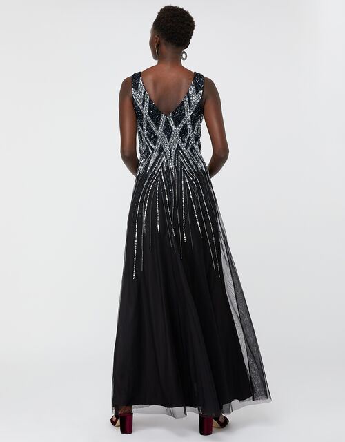 Marnie Embellished Maxi Dress, Black, large