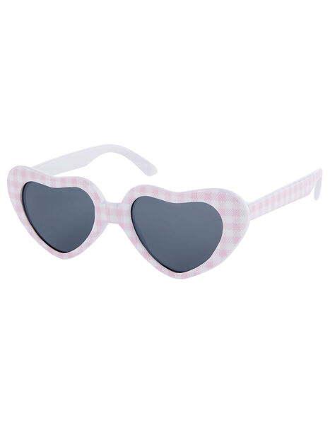 Baby Gingham Heart Sunglasses, , large