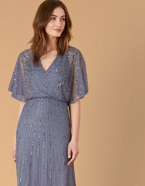 ARTISAN Holly Floral Maxi Dress, Blue (DARK BLUE), large