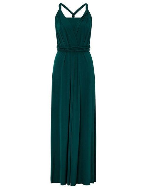 Tallulah Twist Me Tie Me Jersey Bridesmaid Dress, Green (GREEN), large