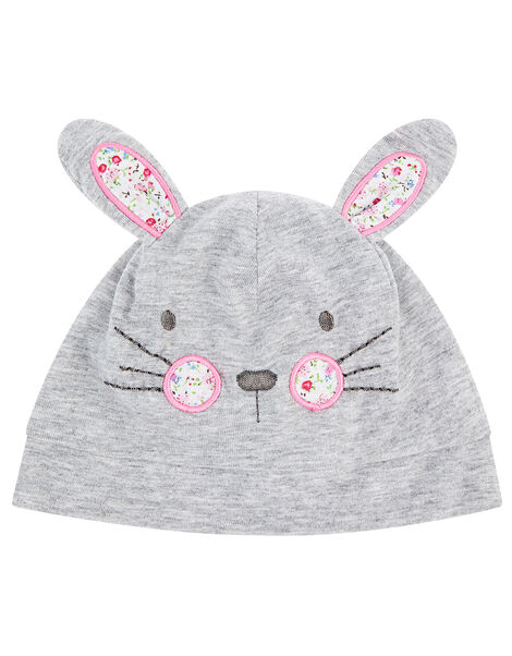 Baby Bunny Hat and Bib Set Grey, Grey (GREY), large