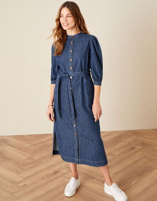 Diya Denim Shirt Dress, Blue (DENIM BLUE), large