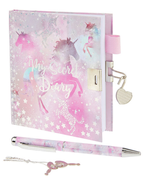 Stardust Unicorn Diary and Pen Set, , large
