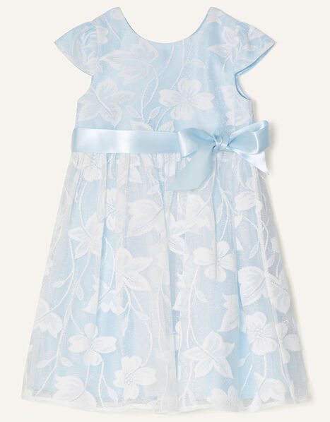 Baby Floral Lace Dress Blue, Blue (BLUE), large