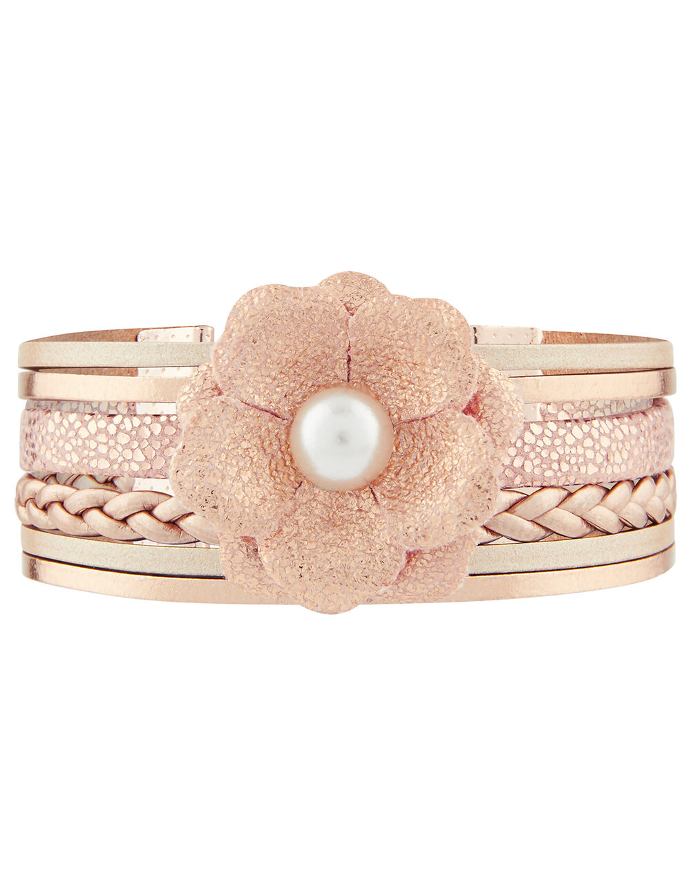 Ophelia Layered Floral Bracelet, , large