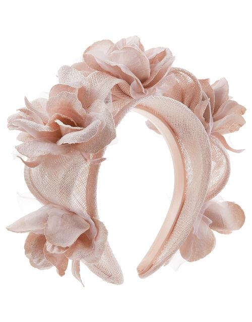 Fifi 3D Flower Headband, Pink (BLUSH), large