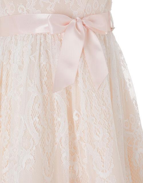 Baby Rebecca Lace Occasion Dress, Orange (PEACH), large