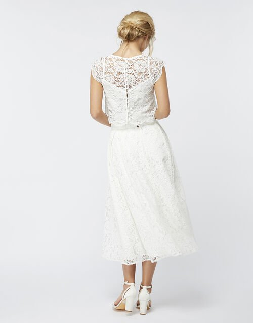 Delilah Lace Skirt, Ivory (IVORY), large