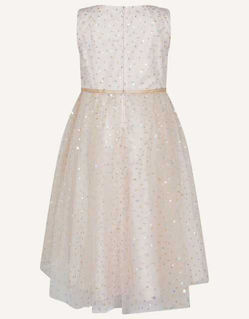 Supernova Foil Print Dress, Pink (PALE PINK), large