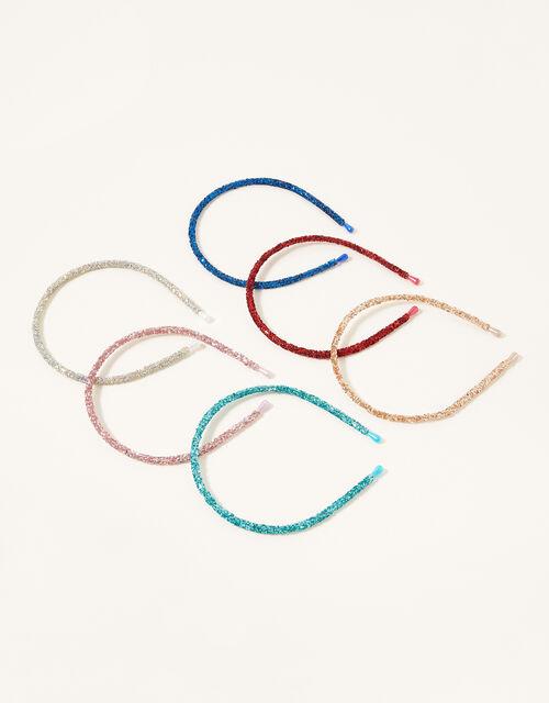 Rainbow Glitter Headband Multipack, , large