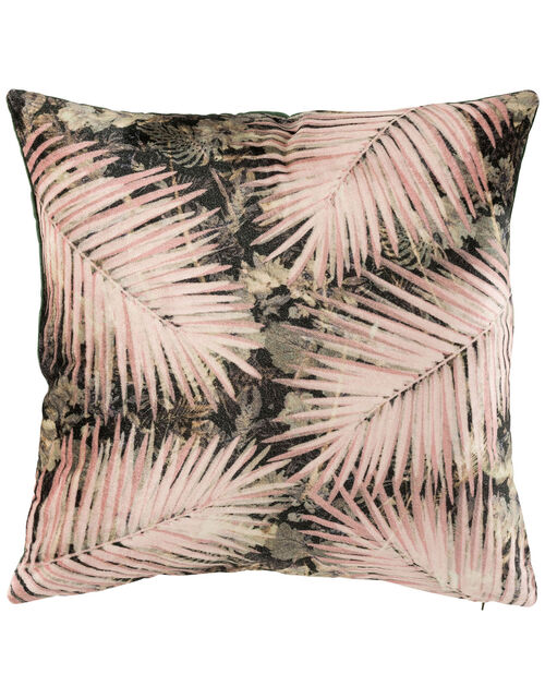 Palm Velvet Cushion, , large