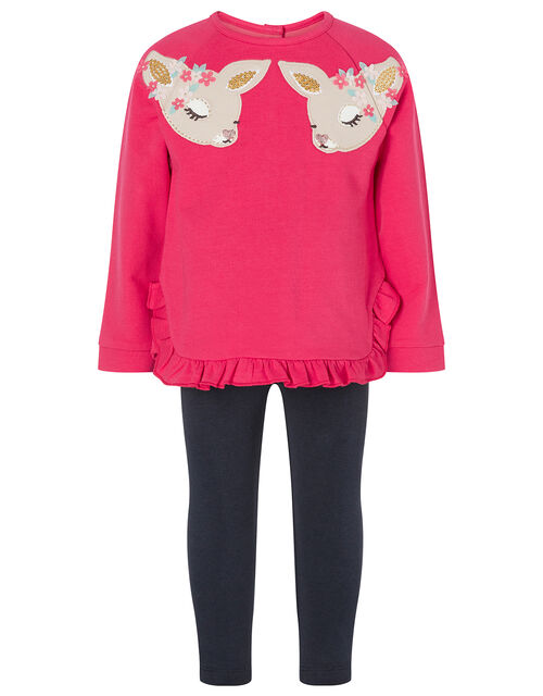 Baby Deer Sweatshirt and Leggings Set, Pink (PINK), large