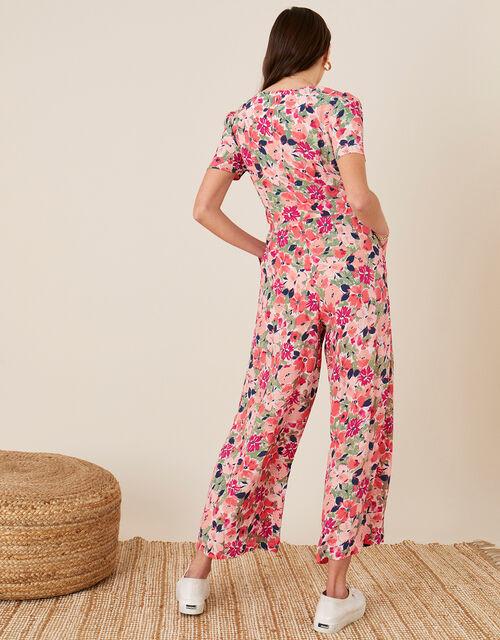 Monica Floral Wrap Jumpsuit, Pink (BLUSH), large