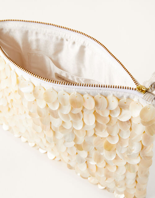 Mother of Pearl Bridal Clutch Bag , , large