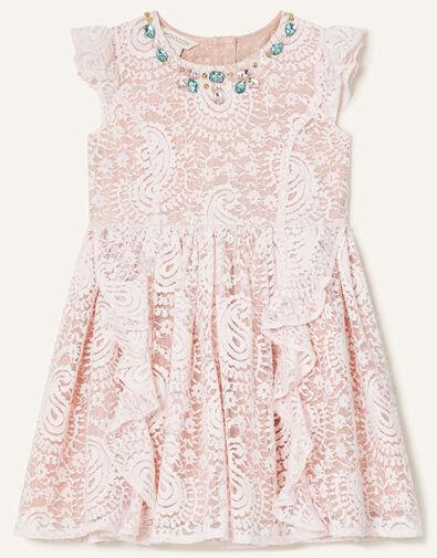 Baby Lace Ruffle Dress Pink, Pink (PINK), large