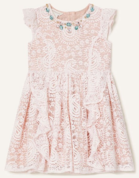 Baby Lace Ruffle Dress Pink, Pink (PINK), large