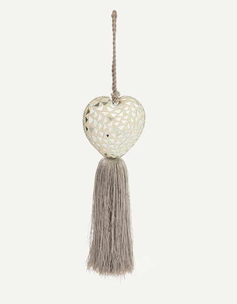 Embellished Heart Door Hanging Decoration Grey, Grey (GREY), large