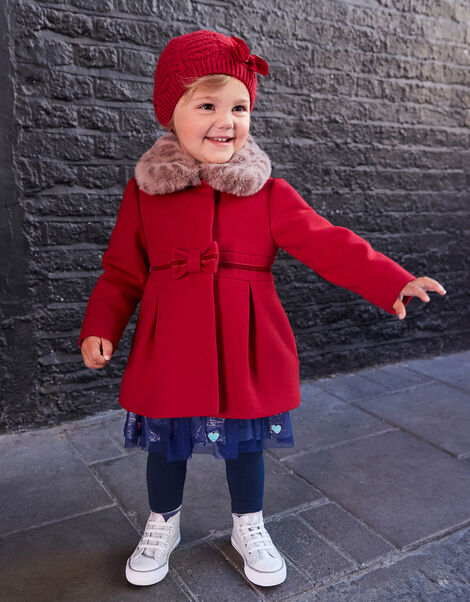 Baby Bow Coat Red, Red (RED), large