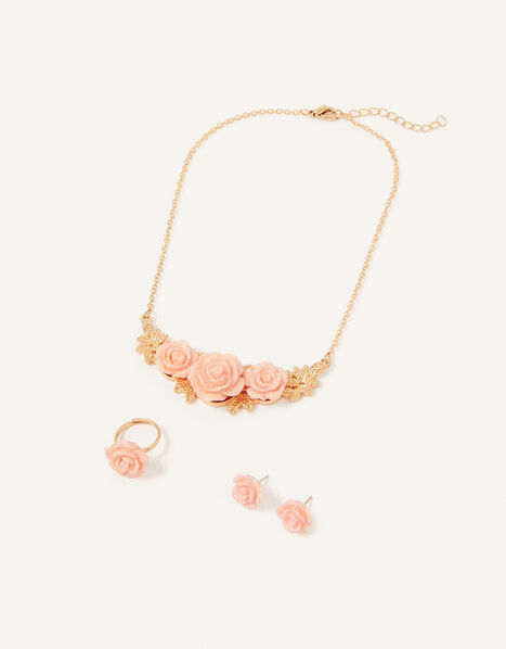 Shimmer Rose Jewellery Set, , large