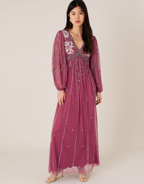 Regina Embellished Dress Pink, Pink (PINK), large