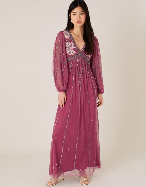 ARTISAN Regina Embellished Dress, Pink (PINK), large