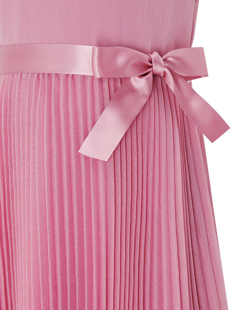 Keita Pleated Dress in Recycled Polyester, Pink (DUSKY PINK), large