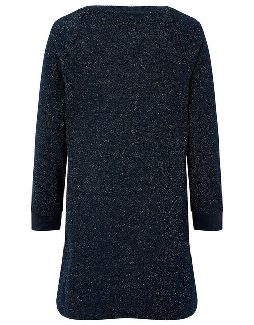 Unicorn Sparkle Sweat Tunic, Blue (NAVY), large