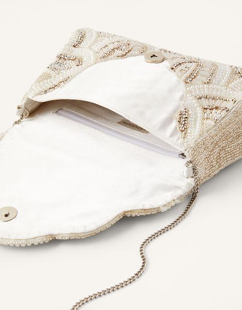 Embellished Scallop Bridal Bag, , large