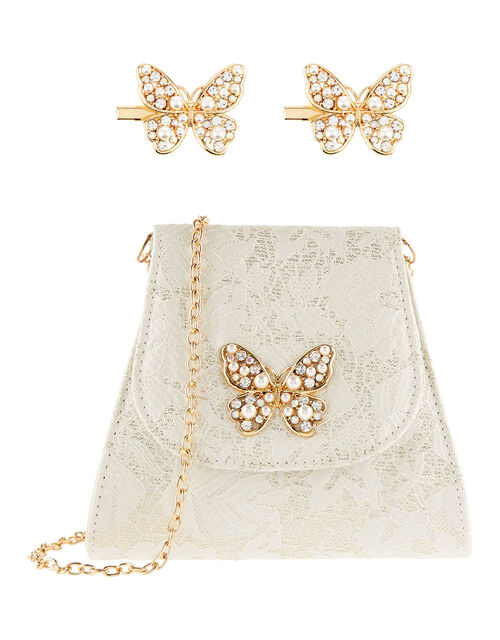 Jacquard Pearl Butterfly Accessory Set , , large