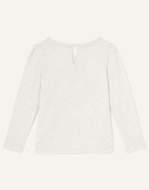 Floral Bunny Long Sleeve Top, Ivory (IVORY), large