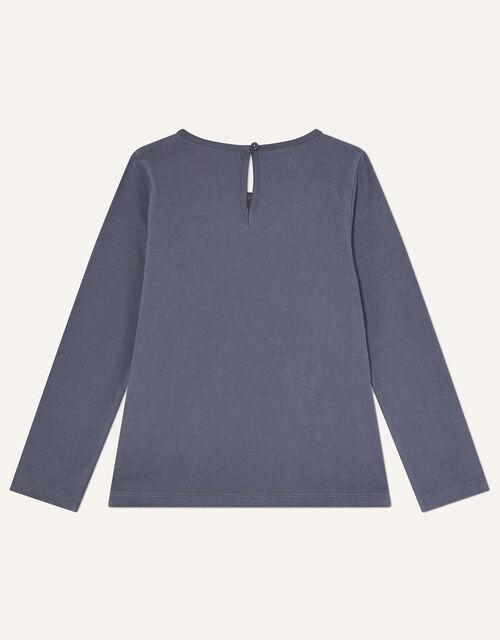 Long Sleeve Star Wand Tee, Grey (CHARCOAL), large