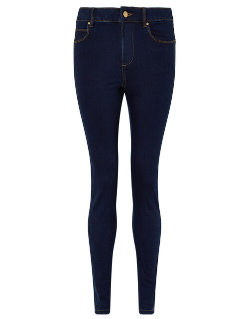 Nadine Dark Rinse Skinny Jeans with Organic Cotton, Blue (INDIGO), large