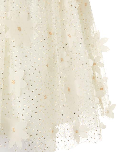 Baby Sweet Petal Flower Dress, Ivory (IVORY), large