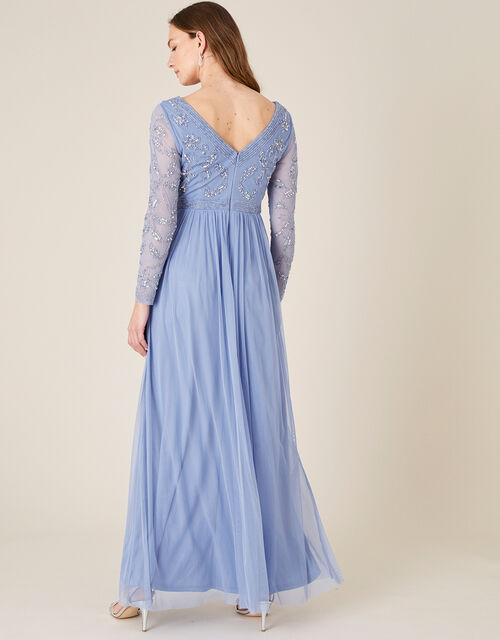 ARTISAN Leela Embroidered Maxi Dress , Blue (BLUE), large