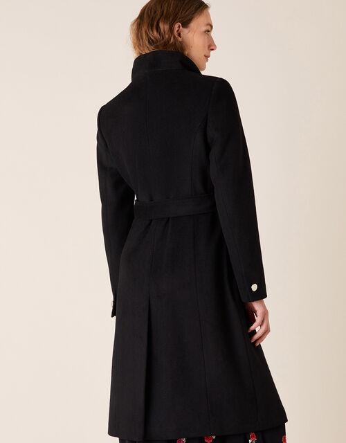 Ruby Long Coat, Black (BLACK), large