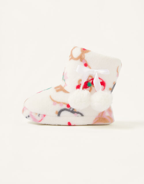 Christmas Fluffy Slipper Boots, Multi (MULTI), large